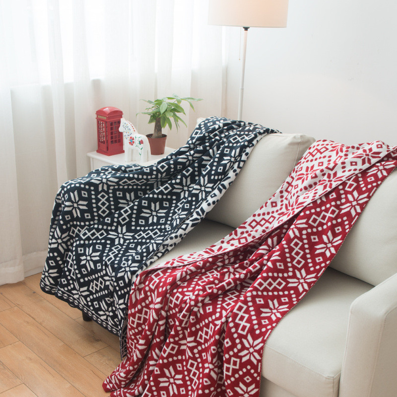 Fashion Knitted Throw Blankets, Bed Blanket by 100% Plush