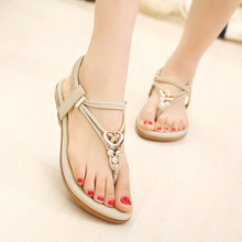 2016 New Summer women flat sandals Ladies Summer Bohemia Beach Flip Flops Shoes Casual Shoes Beach slippers Free shipping 333-11