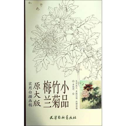 Painting line drawing papers bai miao painting Plum orchid bamboo chrysanthemum Li xiao ming bai wei sets