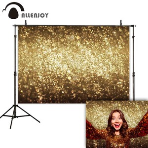 Image 5 - Allenjoy party Glttter photography backdrop Birthday bokeh gold black shiny wedding photo background studio photocall shoot prop
