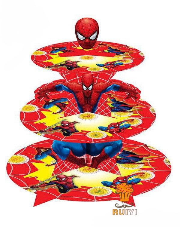 New spiderman kid 39 s boy girl birthday party supplies cake - Decoration spiderman pour anniversaire ...
