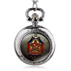 Новинка 2017 года под старину Советский Союз, СССР кварцевые карманные часы Analog подвеска Цепочки и ожерелья мужские женские часы HB834