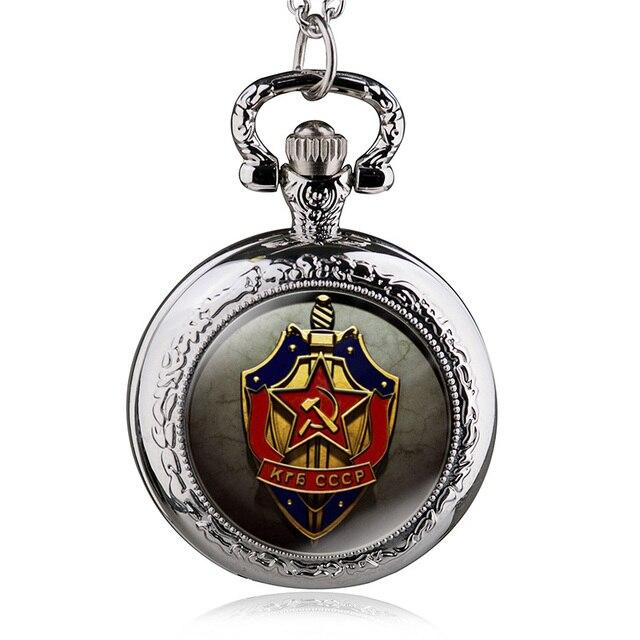 2017 New Antique Soviet Union USSR Quartz Pocket Watch Analog Pendant Necklace M