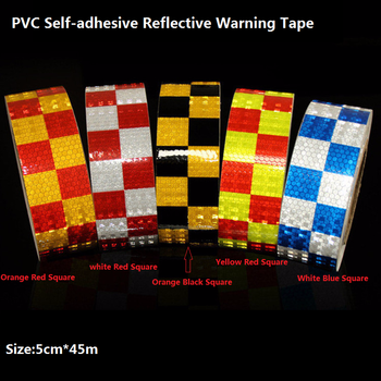 PVC Prystal Lattice Car Body Reflective Sticker Road Traffic Warning Self-adhesive Reflective Tape