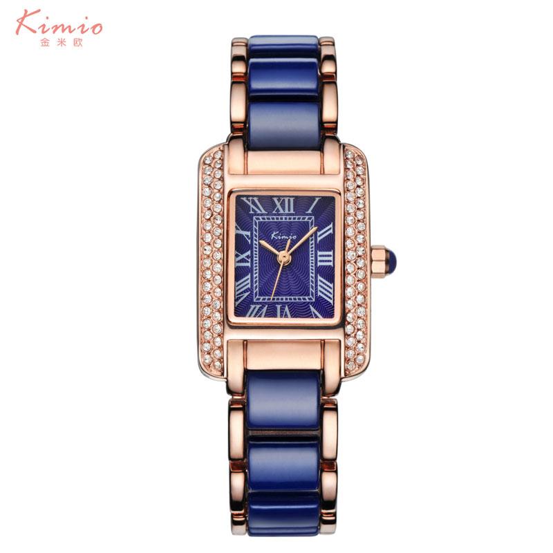 Prix pour 2016 Céramique Bracelet Montre Bleu Femmes Mode Casual Quartz Montres De Luxe Fille Robe Montres Relogio Feminino Montre Femme