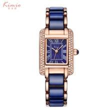 2016 Céramique Bracelet Montre Bleu Femmes Mode Casual Quartz Montres De Luxe Fille Robe Montres Relogio Feminino Montre Femme