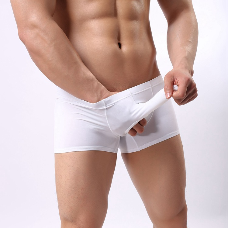 Gay male erotic white underwear