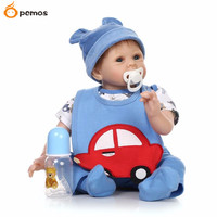 PCMOS 22 Lifelike Reborn Dolls Silicone Vinyl Handmade Kids Friends Baby Pacifier 16062435