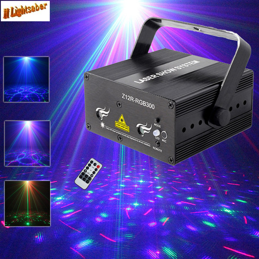 Mini 300mw RGB Laser Stage Lighting Effect Red Green Blue Mixing DJ Disco Light Bar Party Xmas Laser Projector Show Lights new mini red blue line pattern gobo remote laser projector dj club light dance bar party xmas disco effect stage lights show b55