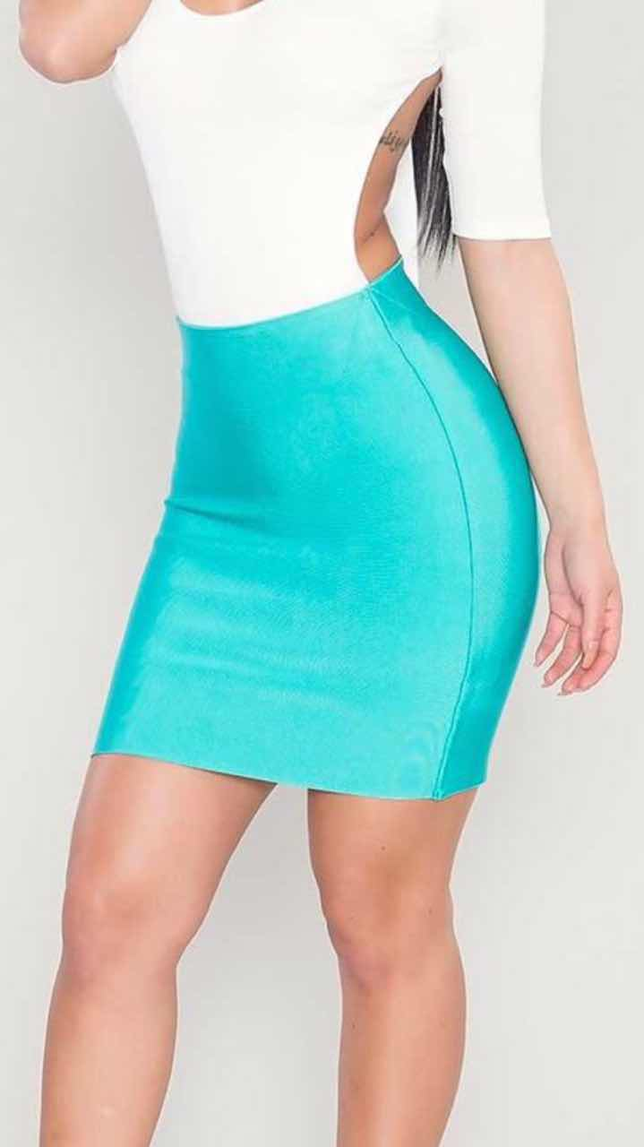 5 Colors High Quality Tight Black White Red Nude Rayon Mini Bandage Skirt Night Club Party Skirt