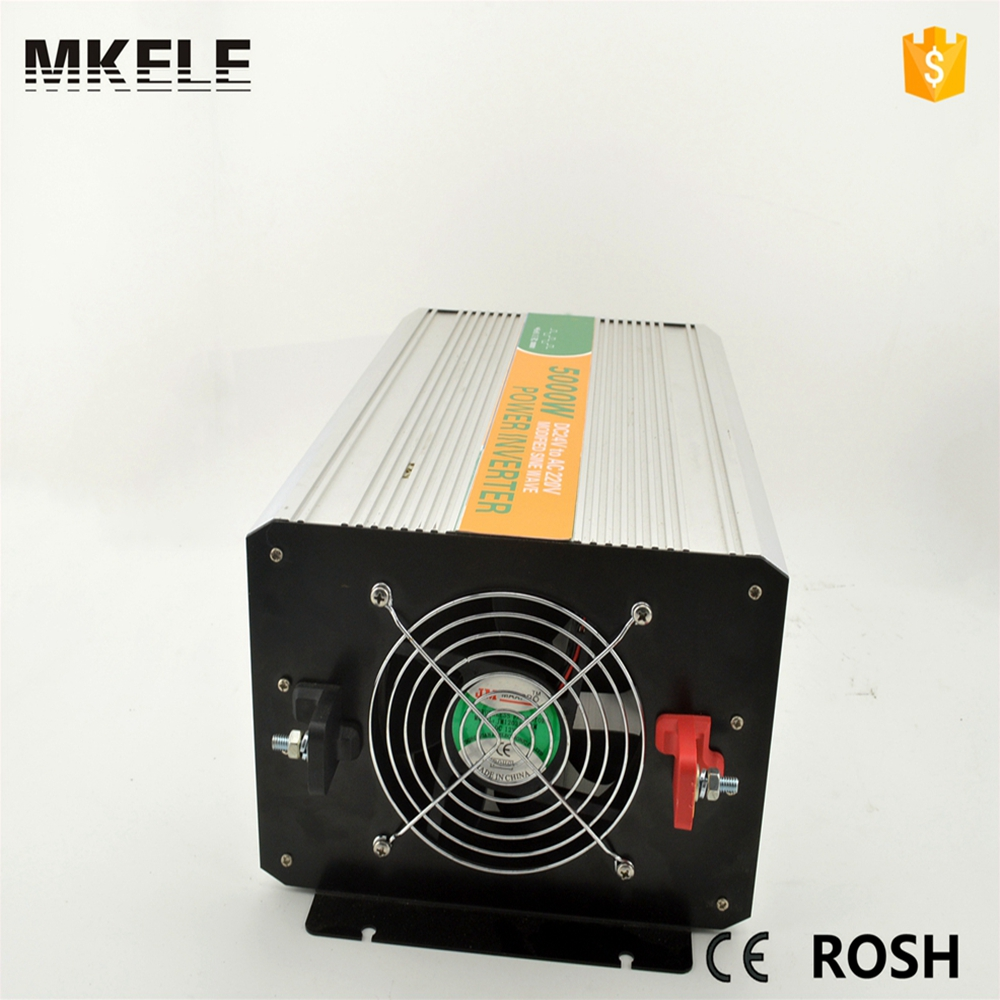 цена на MKM5000-241G modified sine wave inverter 5000 watt inverter 5000w,24 volt dc to 110 volt ac from China