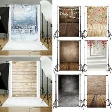 Виниловый фон для студийной фотосъемки с изображением деревянной стены и пола, задний фон для дома и улицы#0115
