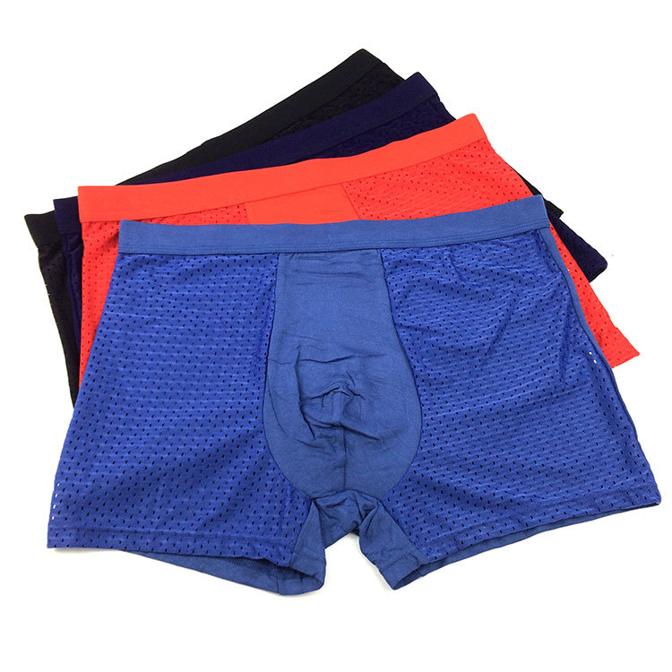 Men 39 s Flat angle Underwear Sexy Bamboo Fiber Breathable Mesh Youth Quartet Pants in Boxers from Underwear amp Sleepwears