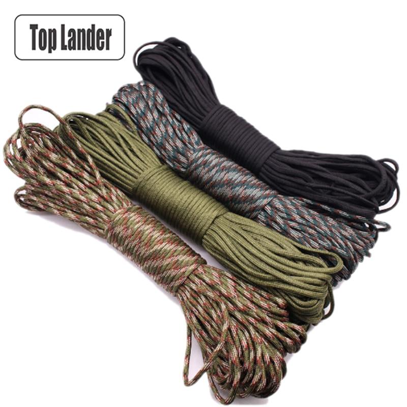 31m 550 Parachute Cord Lanyard Rope Camping Hike Climbing Survival Equipment Kit