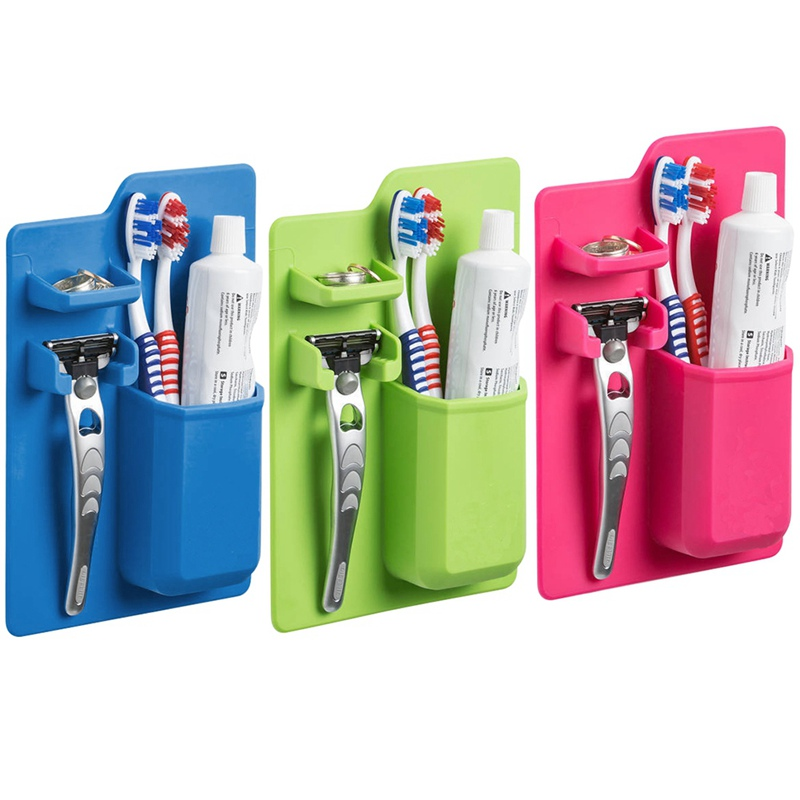New Silicone Bathroom Organizer Mighty Toothbrush Holder Silicone Toothbrush Holder For Bathroom Mirror Shower