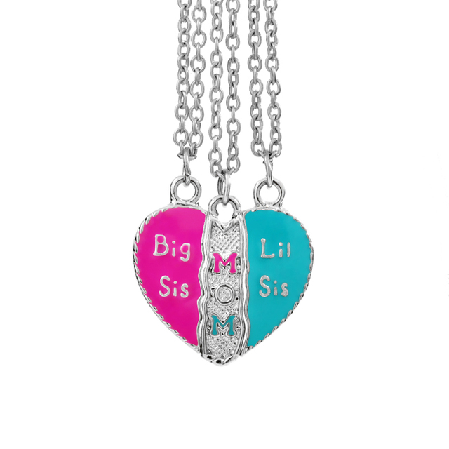Mother daughter necklaces big sis mom little sis splicing necklace mother daughter necklaces big sis mom little sis splicing necklace big sis lil sis family necklace aloadofball Images