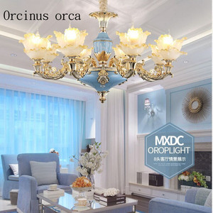 Image 2 - Franse kristallen kroonluchter luxe sfeer villa woonkamer slaapkamer eetkamer lamp Europese stijl retro tuin Kroonluchter