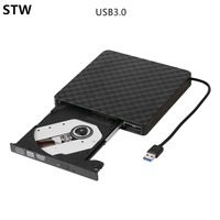 STW USB3 0 Portable External Optical Drive DVD RW CD RW Slim Burner Recorder High Speed