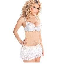Rivet Sexy Adult Bodysuit Teddy Rivet Lingerie Set Mini Lace Dress Two Pieces Exotic Apparel Women Club wear W850776