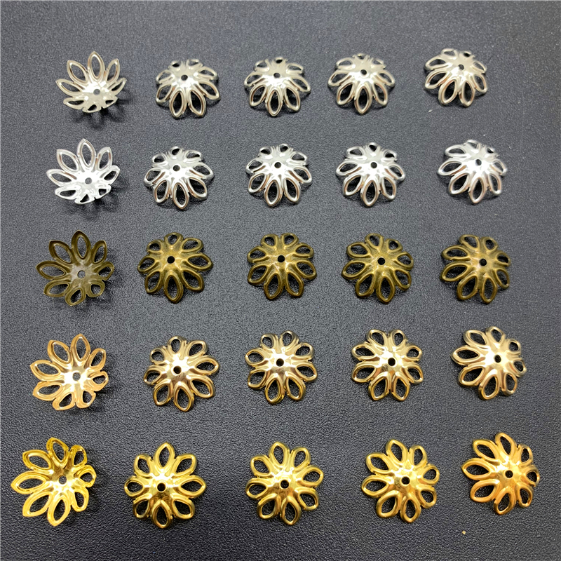 100 шт. 14х14 мм фурнитура для ювелирных изделий, бусины из сплава, старинная подвеска в форме цветка, подвески для самостоятельного изготовления ювелирных изделий, аксессуары