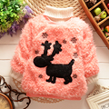 Wholesale-Christmas clothing Winter children clothes girl deer sweater 4p/l