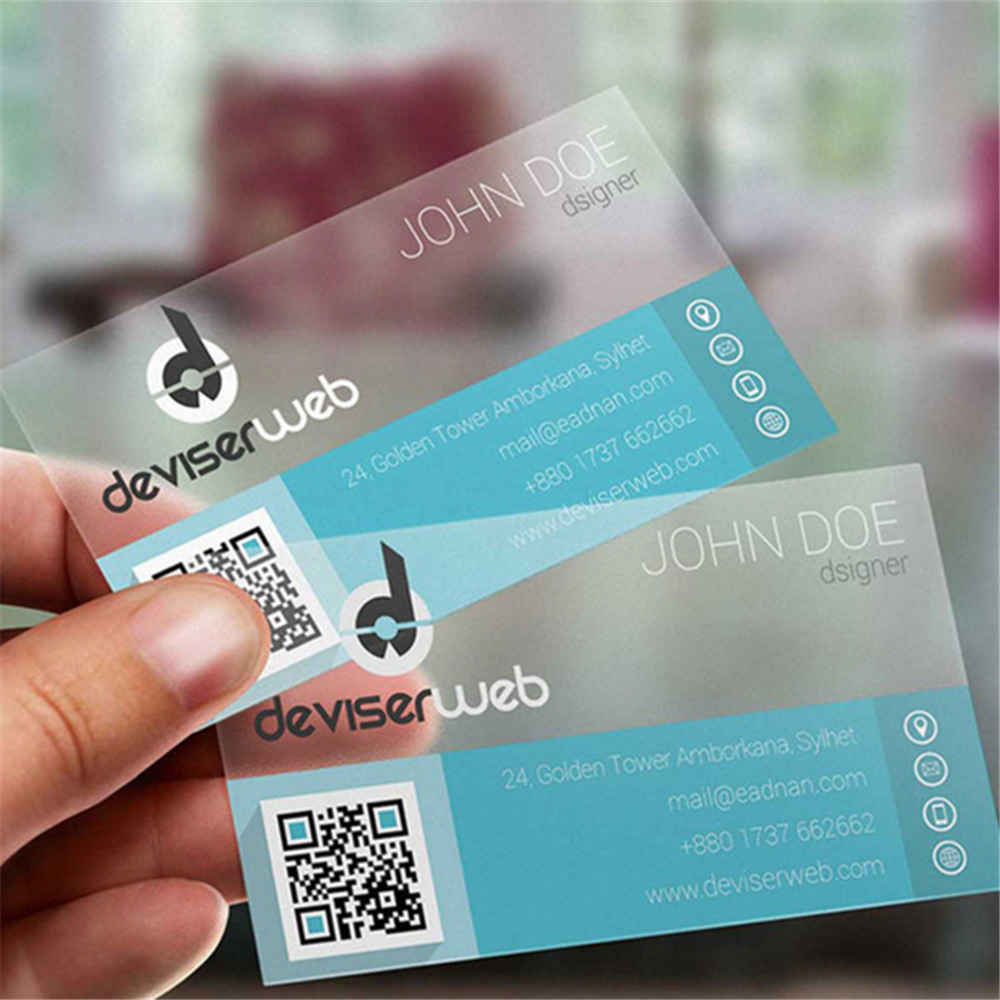 200pc 85.5*54mm Wholesale personalized PVC transparent business card ...