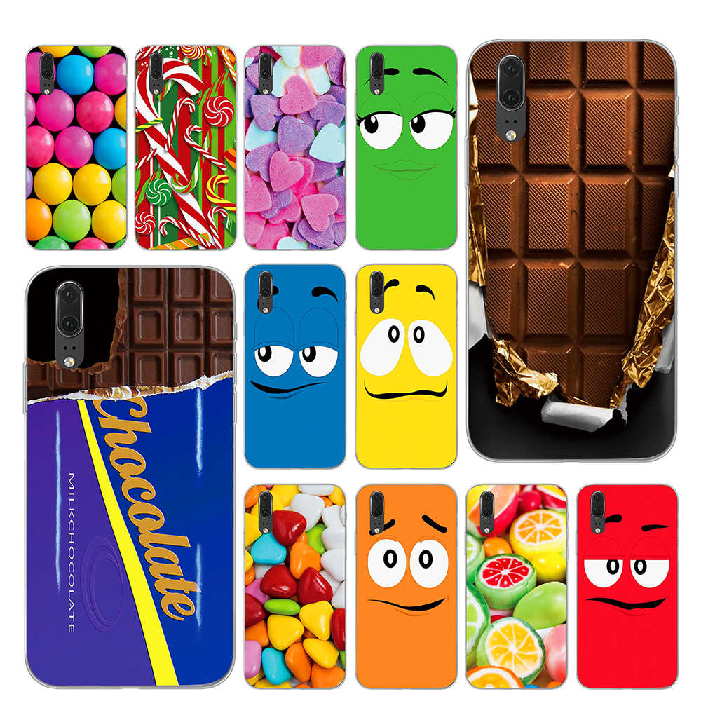Cute Chocolates cartoon Phone Case for Huawei P30 P20 P10 Mate 10 20 Pro Lite Cover