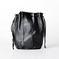 Tobacco pouch Black Genuine leather Tobacco bag