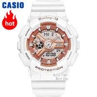 Часы Casio BABY G Женские кварцевые спортивные часы мода рестинг на открытом воздухе спортивные двойные водонепроницаемые baby g Часы BA 110 BA 111