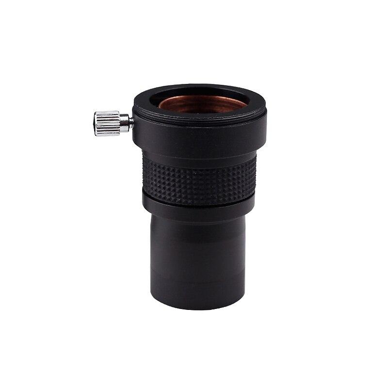 1.25 pouces 2X Barlow lentille en alliage d'aluminium cadre FMC enduit lentille en verre optique M42 fil pour télescope astronomique oculaire