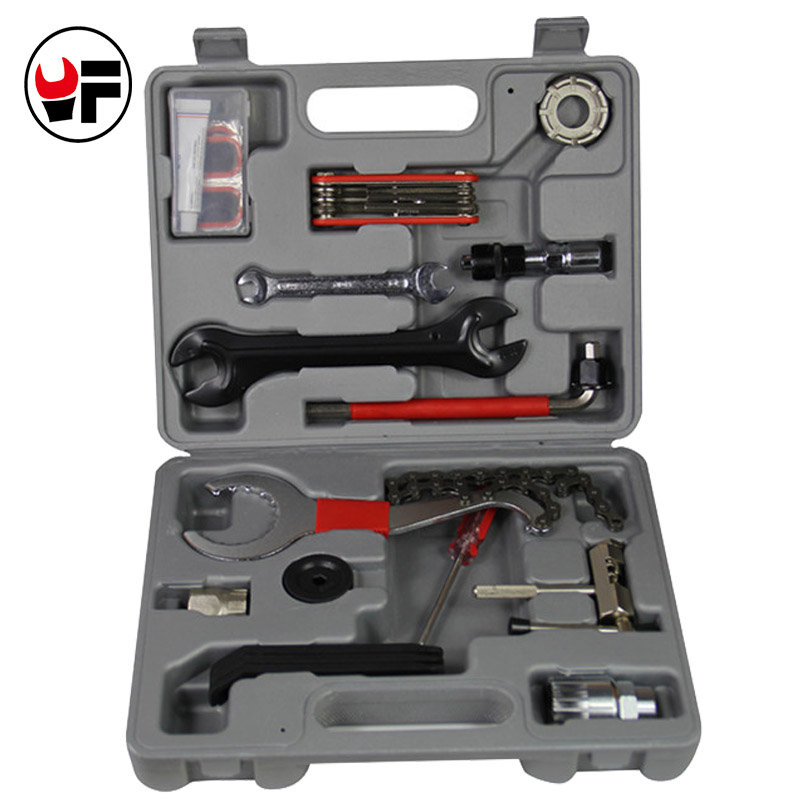 14PCS Mountain Bike Repair Tool Kits Bicycle Chain Cutter Chain Removel Bracket Remover Freewheel Remover Tool Bicicleta DN177 44pcs set mountain bike patchs maintenance repair box diagnostic tools kit valuables cycling chain case bicycle accessories