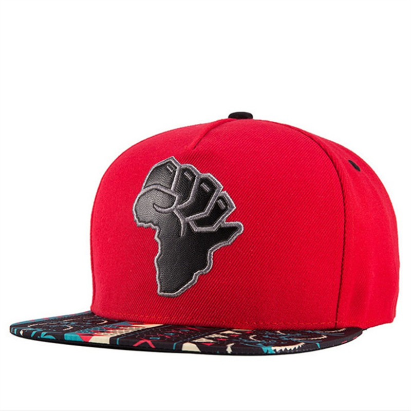 Self-Conscious 2018 New Casual Baseball Caps For Men Women Africa Map Leather Embroidery Flat Hip Hop Hats Girls Boys Snapback Cap Non-Ironing