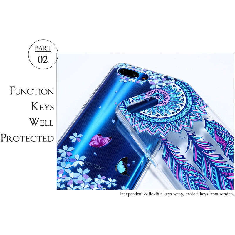 Case For Huawei Honor 4C Pro Case For Huawei Y6 Pro C8818 G Play Mini Cover Transparent Painted Silicone Soft TPU Cases Etui in Fitted Cases from Cellphones Telecommunications