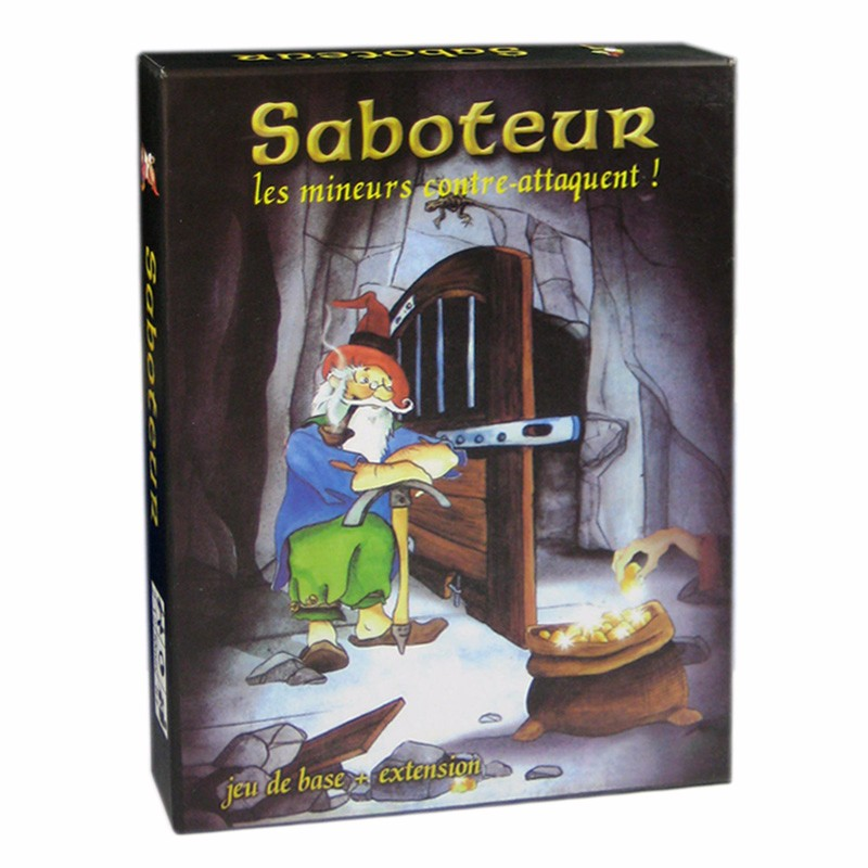 3 Options Miner Game Table Game Saboteur 1 2 3 The Duel For 2 Players Card Game Family Party Indoor Board Game