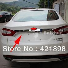Для Ford Mondeo Fusion 2013 ABS Хромированная Задняя Крышка багажника Накладка