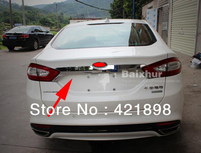 Ford Fusion Parts >> For Ford Mondeo Fusion 2013 2014 2015 ABS Chrome Rear Trunk Lid Cover Trim-in Chromium Styling ...