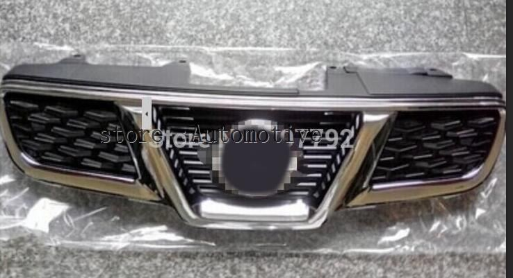 ABS Chrome Front Grille Around Trim Racing Grills Trim For 08 13 for NISSAN Qashqai 2008