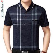 を 2020 ホット本物のポケットボディービル半袖ポロシャツ男性格子縞のポロシャツ夏pol tシャツメンズドレスpoloshirtジャージ 1398