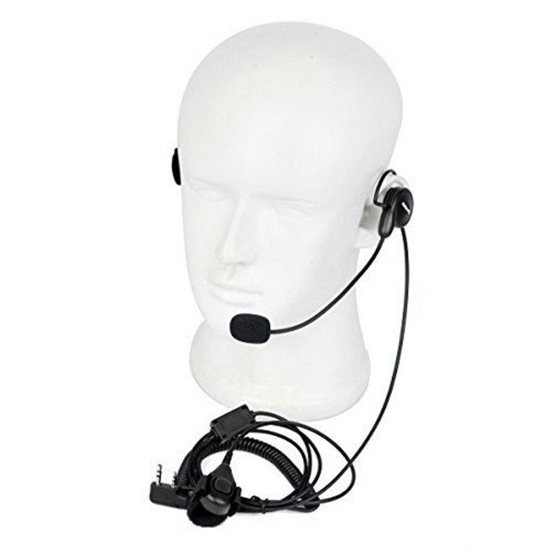 Unilateral Headphone Mic Finger PTT Neckband Earpiece Cycling Field Tactical Headset For Kenwood BAOFENG Walkie Talkie Earphone