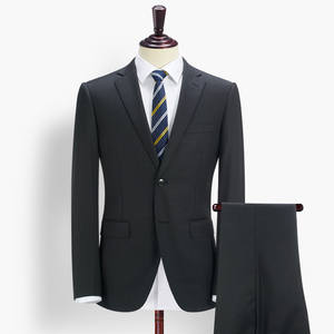 Suits-Set Tuxedo Groom Pant Coat Business Wedding Black Striped Single-Breasted Brand