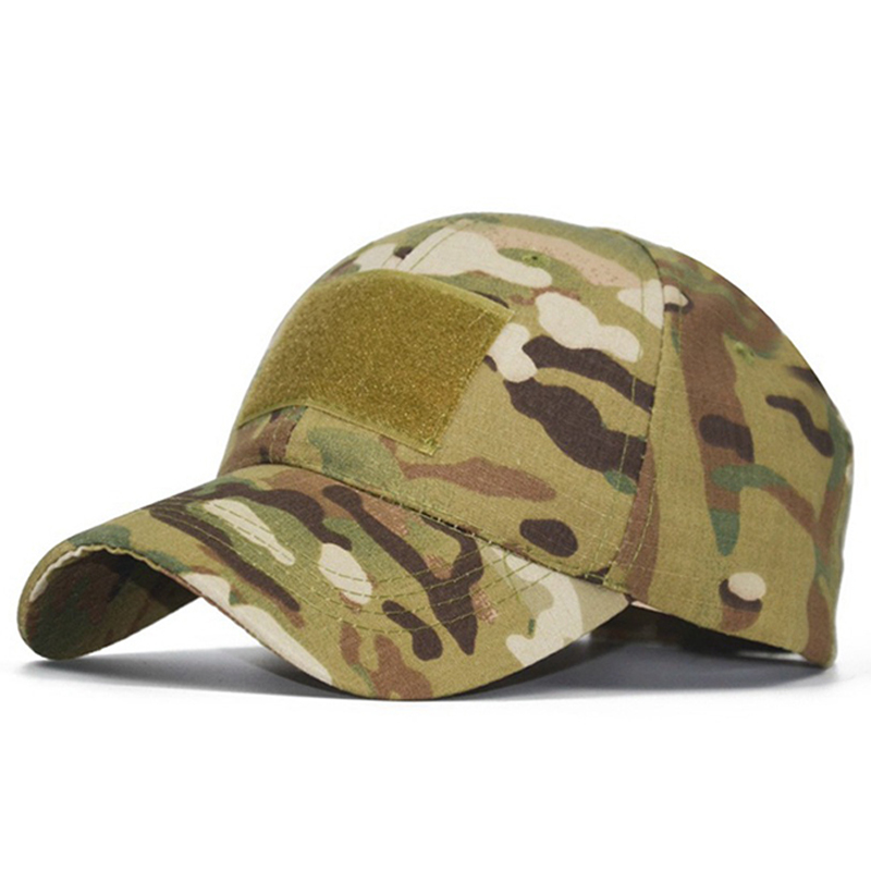New Camo Baseball Cap Men Summer Mesh Cap Tactical Camouflage Velcr Snapback Outdoor Climbing Hunting Camo Summer Hat W1007