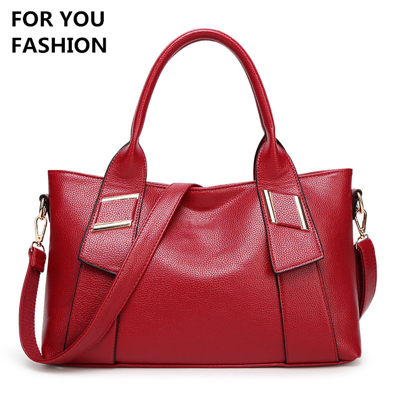Free Shipping New Women Top handle Bag Soft Leather font b Handbags b font Large Capacity