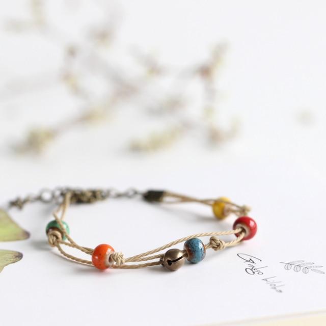 58ce93ff7d17 Serie japonesa y coreana joyería de cerámica creatividad Casual Handiwork  mujeres pulsera joyas al por mayor