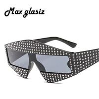 10b0721325 New 2018 Oversized Sunglasses Women Brand Rivets Sun Glasses For Ladies Men  Big Ladies Luxury Sunglass. Novo 2018 óculos de Sol ...