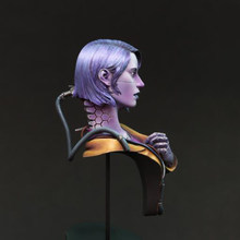 1/12 73mm Science fiction Woman Warrior bust toy Resin Model Miniature Kit Unassembly Unpainted(China)