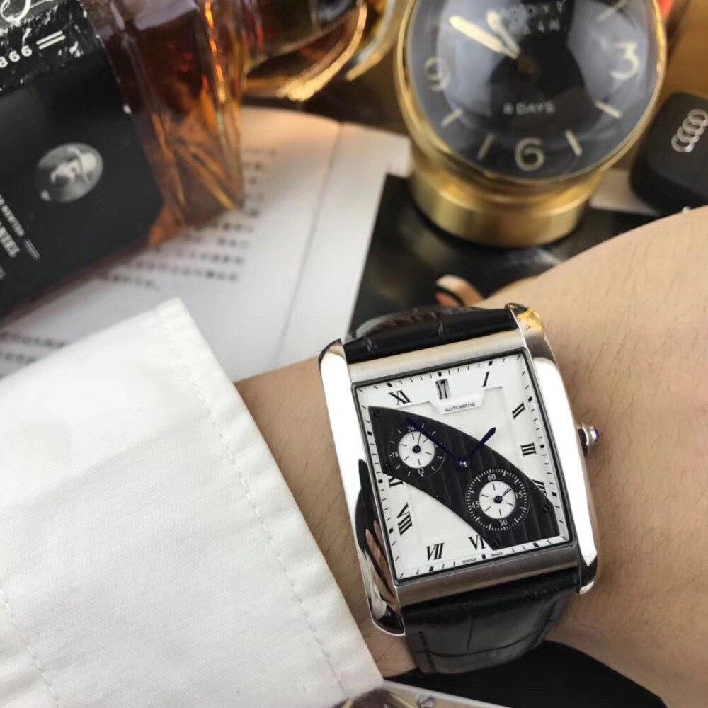 Мужские часы лучший бренд взлетно посадочной полосы роскошный Европейский Дизайн автоматические механические часы S0727