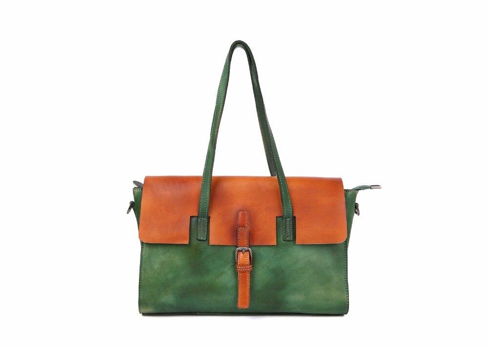 HUIZUMEI new retro handmade women bag original genuine leather fashion shoulder bag handbag women famous brand