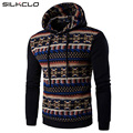2017 New Stylish Men Fashion Ethnic Mosaic Design Hoodies Coat Men's Casual Turtleneck Sweatshirts Casual Print Pullovers Coats