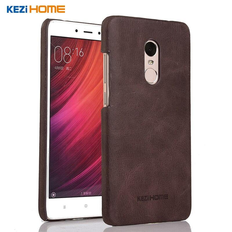 Xiaomi redmi note4X case Fashion genuine leather back shell cover case for xiaomi redmi note 4X