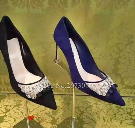 Slip-on Elegant Women Single Shoes Bling Bling Crystal High Heels Pointed Toe Sexy Pumps Thin Heel Female Party Dress Shoes шлейка comfy jake 50 95 2 5 см красная